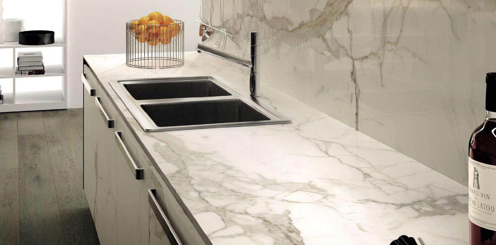 Top cucina calacatta avetta - Top cucina in marmo ...